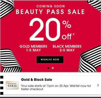 Sephora Gold 20% off Storewide!!