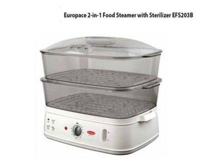 EUROPACE 2 in 1 STEAMER WITH STERILIZER