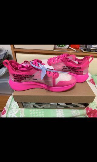 Nike x off white zoom fly pink us9