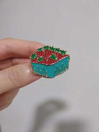 Strawberry Crate Pin