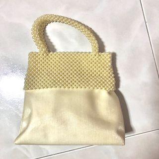 Vintage mini pearl handbag