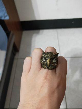個性貓頭鷹戒指