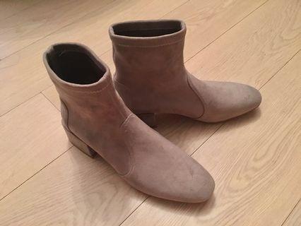 麂皮Ankle boots