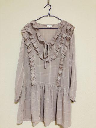 🚚 Mini Ruffle Dress - Purple