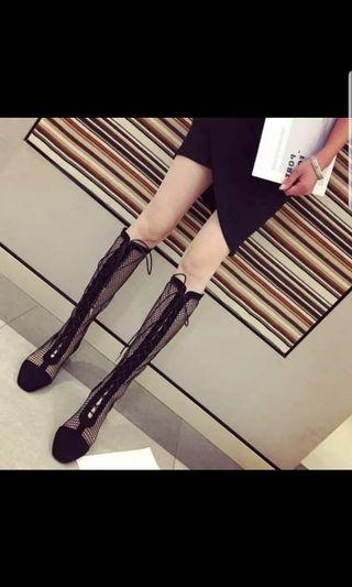 🚚 Netting black sexy boots