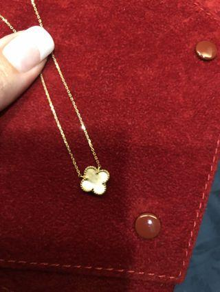 14k yellow gold VCA necklace