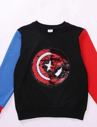 Marvel sequin flip sweater