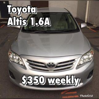 Toyota Altis 1.6A for Rent
