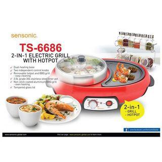 Sensonic Electric Grill with Hotpot (2 in 1) TS6686