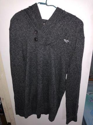 Hollister上身深灰冷衫(有帽)