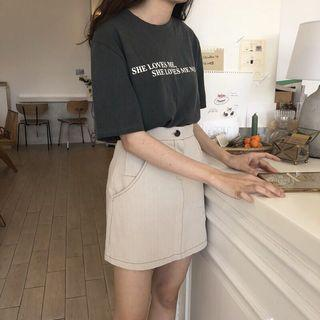 🚚 全新轉賣正韓 nuhi 直紋A字短裙S