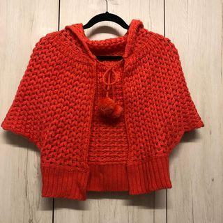 🚚 西瓜紅色斗篷外罩上衣