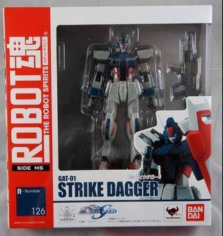 全新未開 日版 Robot 魂 gat-01 strike dagger 突擊達加 突擊短劍 突擊刃 gundam 高達 seed destiny 126 ms side 高達模型 量產型 量產機