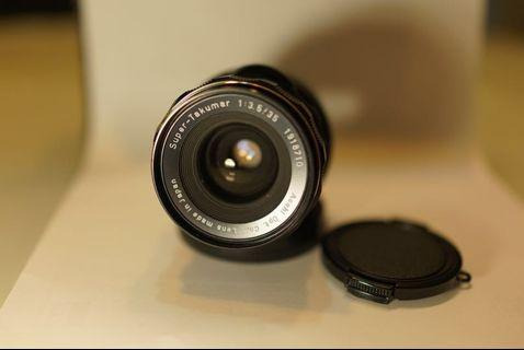 Asahi Super-Takumar 35mm F/3.5 lens with M42 to E Mount Adapter