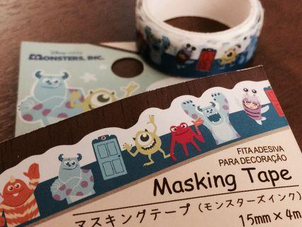 🇯🇵日本限定 怪獸公司 Masking Tape MT