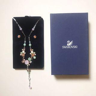 Swarovski Necklace + Earrings 套裝