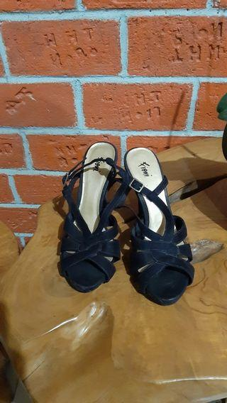 Sandal Heels fioni 12cm size 39 dari payless good condition