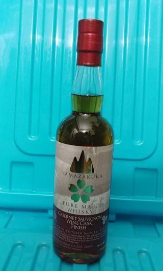 山櫻6年 紅酒桶 cabernet sauvignon 威士忌 whiskey 日威 日本威士忌
