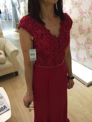 Red Sequin Gown for Wedding Dinner