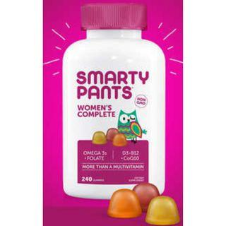 SmartyPants Women's Complete Gummy Vitamins (240 gummies)