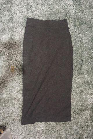 H&M Ribbed Bodycon Skirt