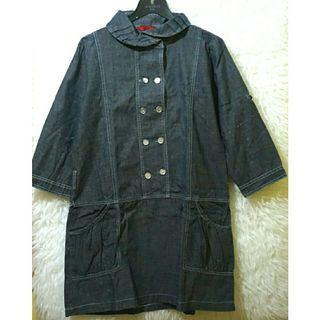 Mididress bahan jeans / denim