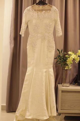 White Lace Dress - baju nikah