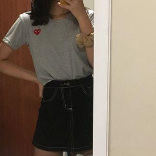 BN Comme Des Garcons Play inspired grey shirt