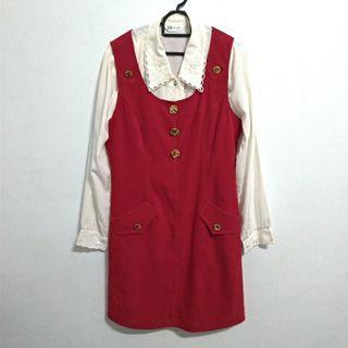 🚚 紅白小洋裝