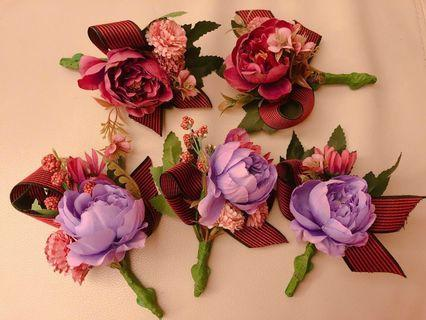 結婚紫紅襟花