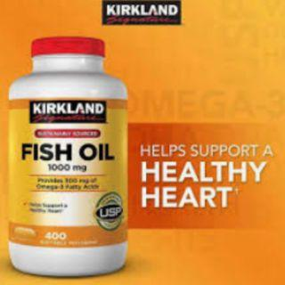 Kirkland Signature Fish Oil 1000mg (400 softgels)