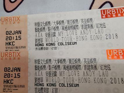 Andy Lau World Tour Concert Tickets in HK