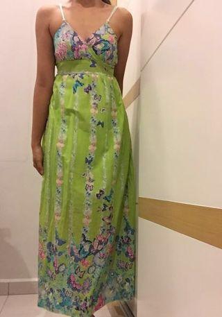 Summer floral batik maxi beach dress