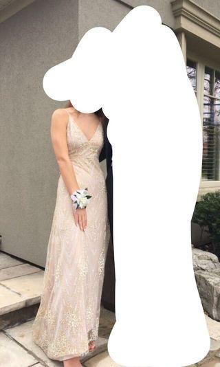 Rose gold prom dress!