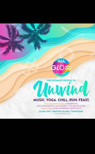 🚚 AIA Glow Festival All Day Pass and Music Pass tickets