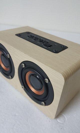 木質藍芽音響+鍍金音源綫