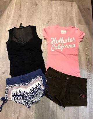 *BUY 3 GET 1 FREE* Lots of 4 woman TOP and shorts ( XS-S )