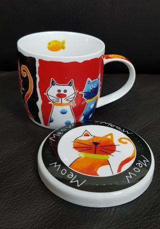Meow Mug with Lid