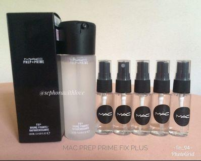 MAC PREP AND PRIME FIX PLUS SETTING SPRAY  #originaltrialpackmakeupbylin