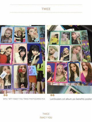 Twice fancy you FANCY photo cards pcs lenticular cd album po benefit preorde bnefit poster sale trade wtt wts