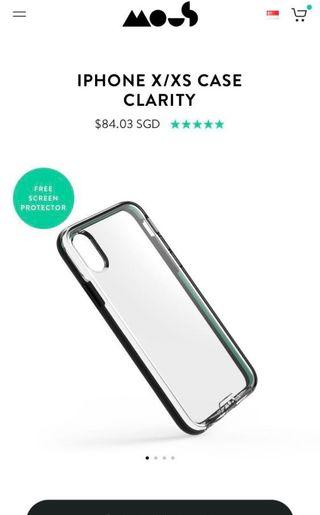 Mous Clarity Case for iPhoneX/XS (Latest Release From Mous)