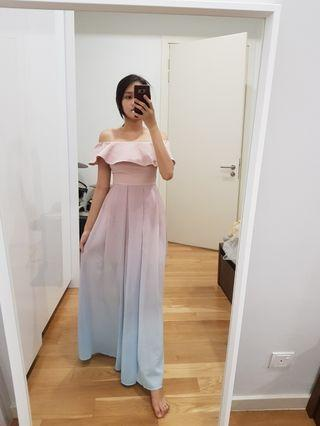 (Sale 4 for RM260) pink blue ombre dress