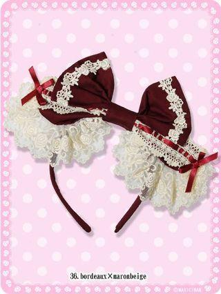 🚚 Maxicimam Majorito Rose Fleur Hairband lolita