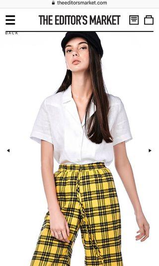 Willa linen white blouse