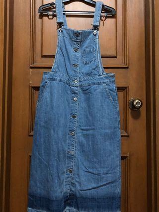 Overall denim jeans panjang