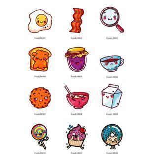 Mini Stickers - Foods
