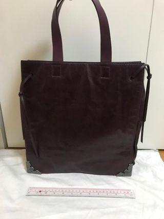 Alexander mcqueen leather tote bag 真皮手提袋
