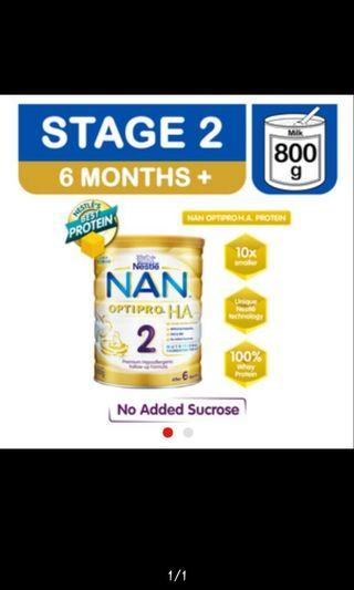 Nestle nan HA 2 formula milk powder