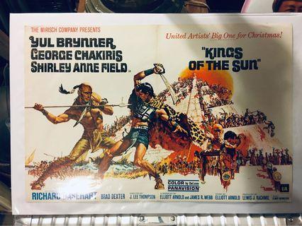 1963年電影🎬king of the sun海報。
