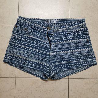 Aztec Jeans Shorts